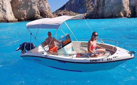 rent a boat in zante